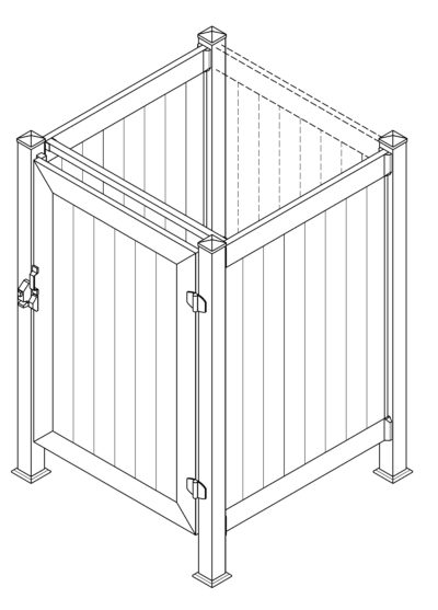 Phoenix Manufacturing Shower Enclosure 4' x 4' 2