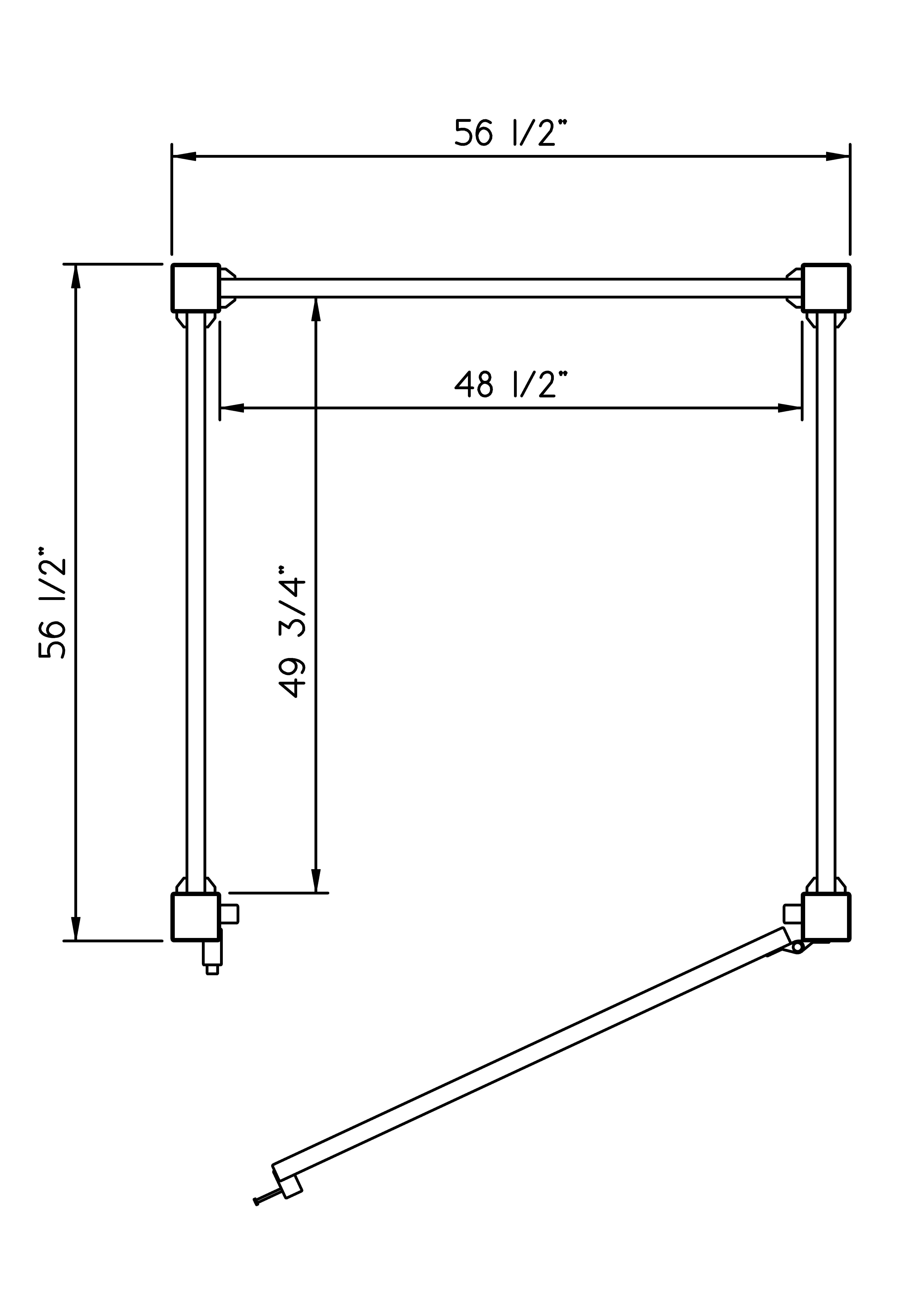Phoenix Manufacturing Outdoor Shower 4x4 Schematic