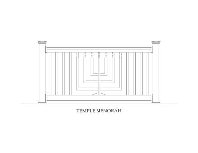 Phoenix Manufacturing Specialty Panels - Temple Menorah